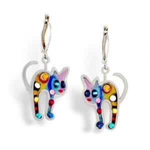 Seeka Kitten Earrings $75.00