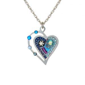 Seeka Blue Heart Necklace $67.00